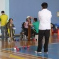 Boccia (a kind of adapted Curling)